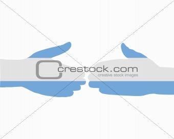 Argentinian handshake