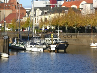 Boats drop anchor in a haven in Oldenburg