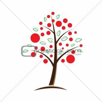 apple tree symbolic illustration