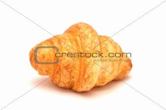 Single fresh croissant