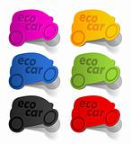 eco car, realistic design elements