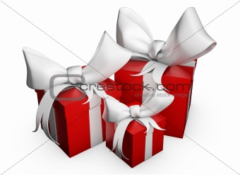 Three Red Gift Box