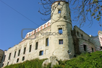 old walls of the castle in Janowiec