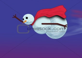 Flying Snowman