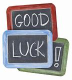 good luck wishes on blackboard