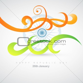 artistic indian flag