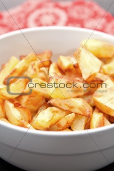 Bowl Of Crisp Golden Potato