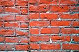 Painted brick wall details architectural fragment 