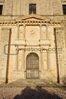 door of church in Ucles
