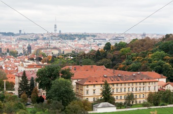View of Prague from the top