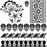 Indian ornaments on white