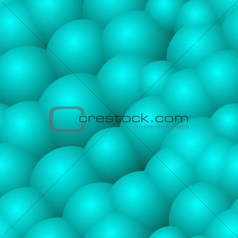 Abstract background with blue bubbles