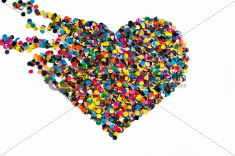 Broken confetti heart