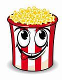 Smiling popcorn box