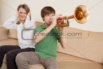 Annoying trumpet player