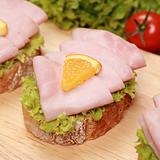 Finger food with ham