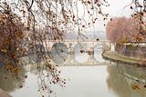 Tiber River In Rome,Italy
