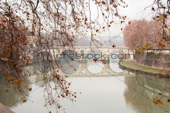 Tiber River In Rome,Italy