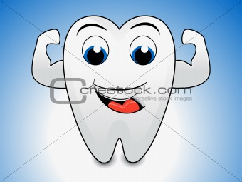 abstract tooth cartoon