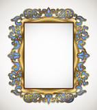 floral gold frame