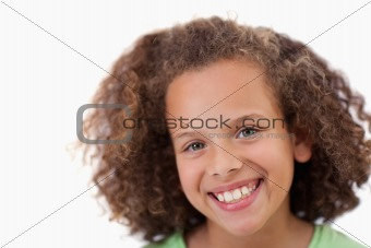 Close up of a girl smiling at the camera