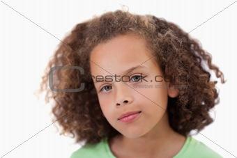 Close up of a girl looking at the camera