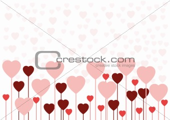 Valentine love card or background