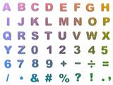 Rounded colour alphabet