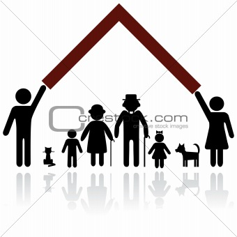 Family protection illustration.