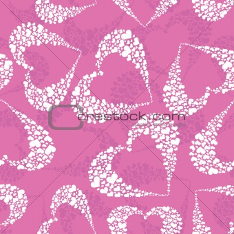 Abstract background with hearts.