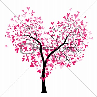 Image Description Abstract Vector Heart Tree Valentin