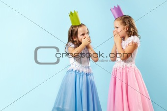 Astonished girls