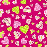 Seamless valentine pattern, vector
