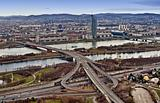 Vienna skyline panorama. Aerial View