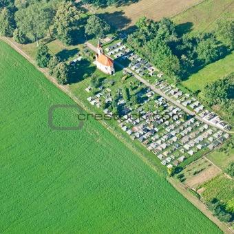 Cemetery near field