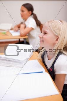 Portrait of pupils smiling