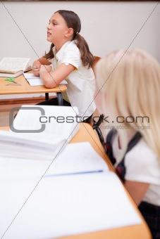 Portrait of pupils during a lesson