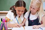 Pupils drawing together