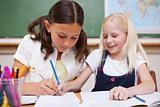 Pupils working together