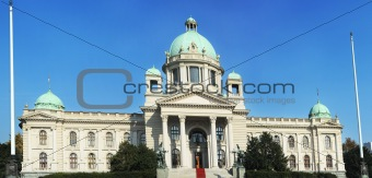 Serbian parliament in Belgrade