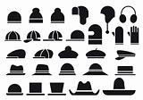 various vector hats