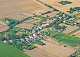 Village, aerial view