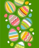 Seamless border with easter eggs
