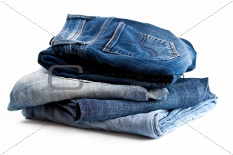 four various jeans