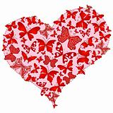 Large pink romantic heart