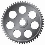 Large metal gear - vector