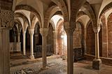 Crypt of St. Savino Basilica. Piacenza. Emilia-Romagna. Italy.