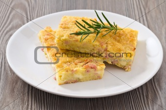 Potato gateau.