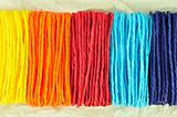 colorful ropes on Tissue paper