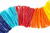 colorful ropes on white background